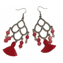 Boucle d'oreille Pom'Red
