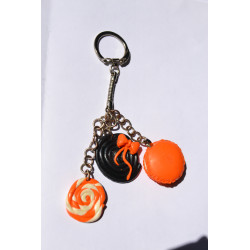 Porte clé acidulé bonbon orange