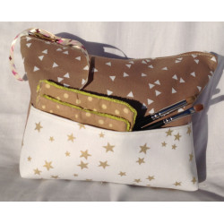 Trousse de toilette chocolat chantilly