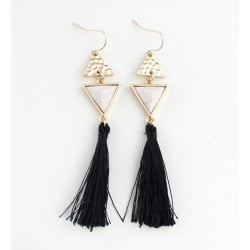 Boucle d'oreille chic triangle