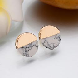 Boucle d oreille marbre blanc le de de gisou