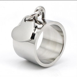 Bague pampille coeur