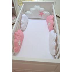 Tour de lit Bébé avec coussin nuage étoilé