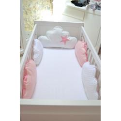 Tour de lit Bébé avec coussin gaufré